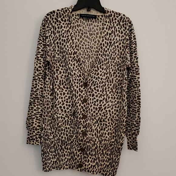 French Connection animal print cardigan
